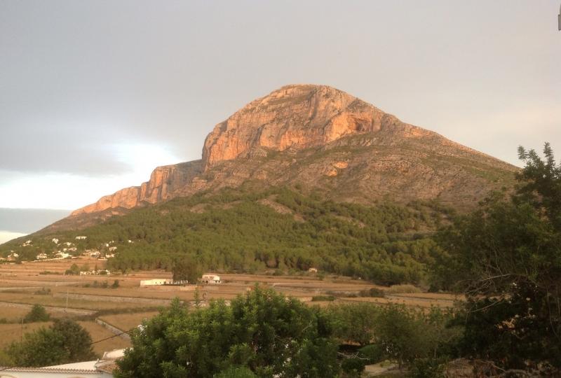 The Montgo Mountain that shelter Javea