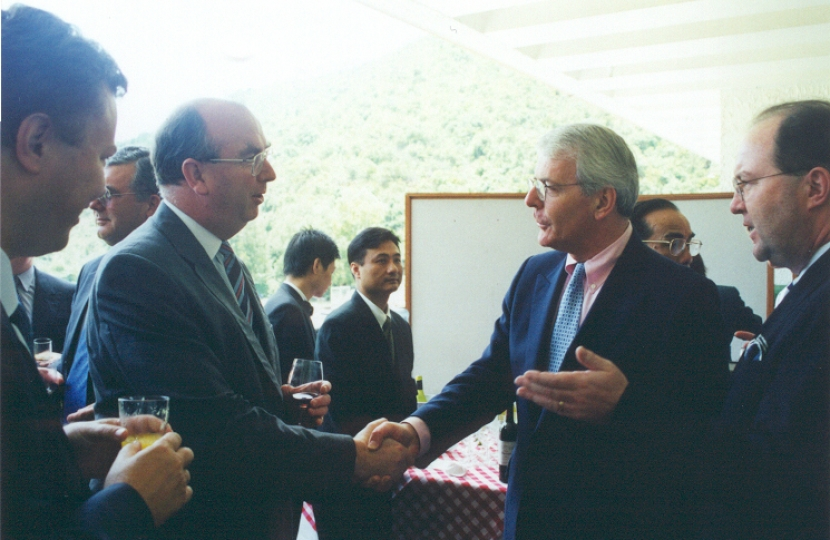 John Major in Hong Kong